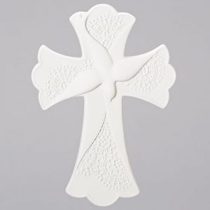 Confirmation cross with Lace design