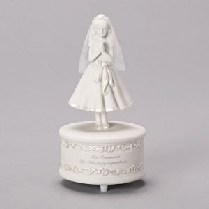 Musical communion girl statuette