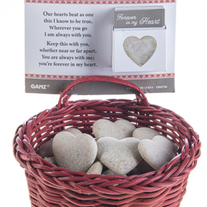 Forever in my Heart Stones in a Basket