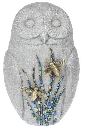 Owl with Mosaic Bee Figurine